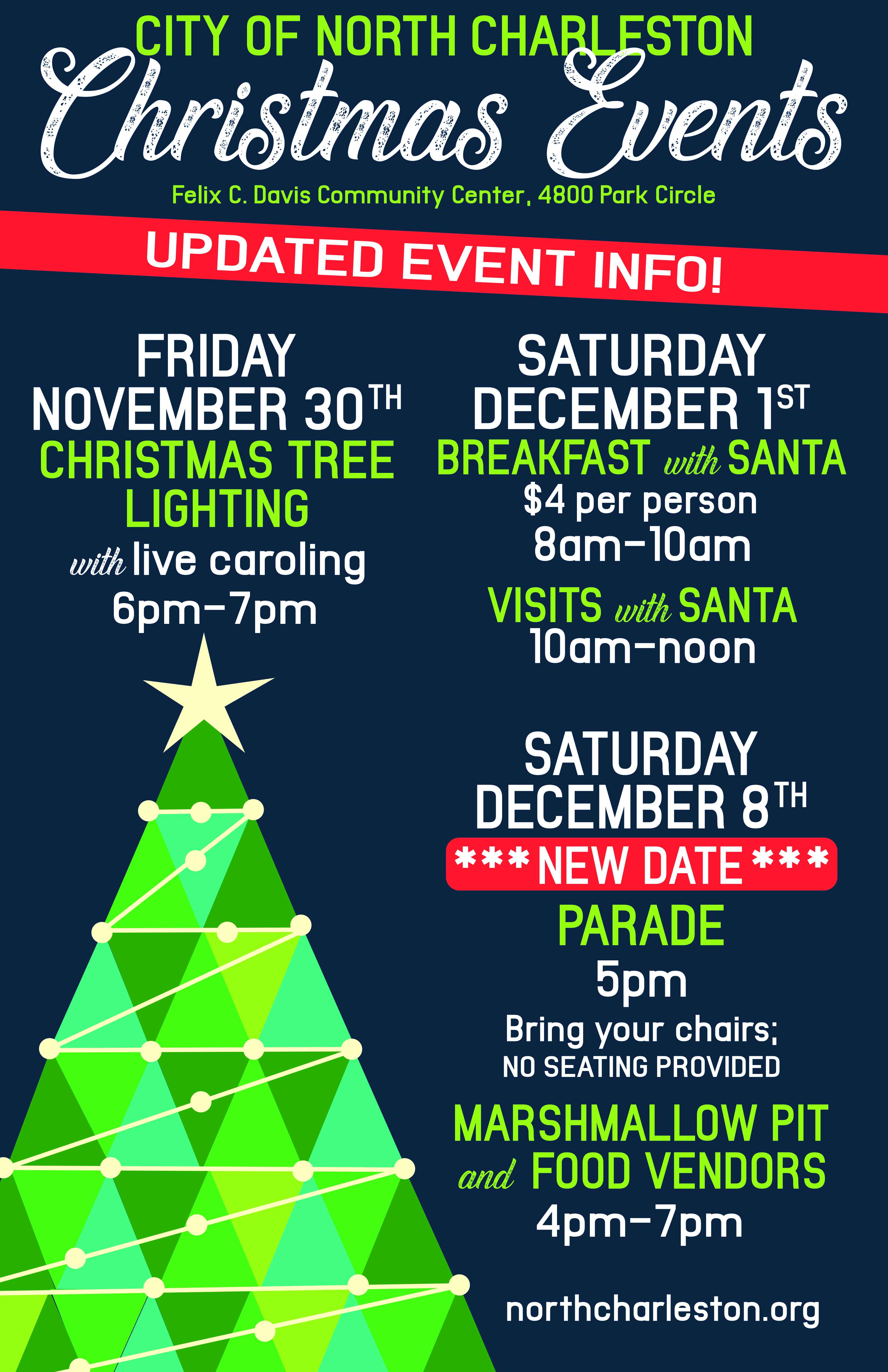 North Charleston Christmas Parade 2019 Christmas Festival & Parade – City of North Charleston, SC